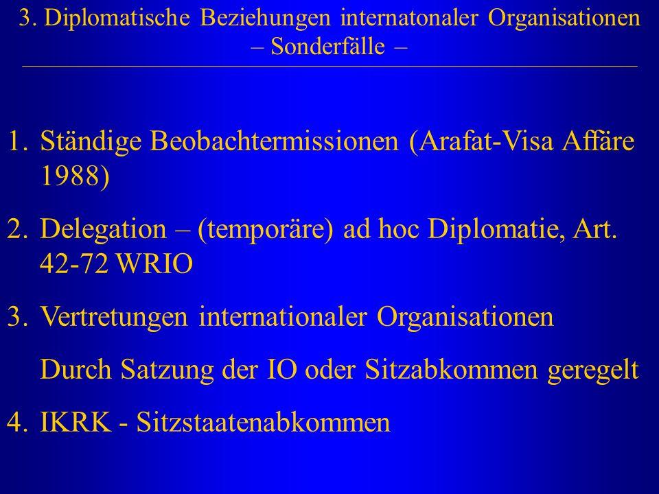 Ständige Beobachtermissionen (Arafat-Visa Affäre 1988)