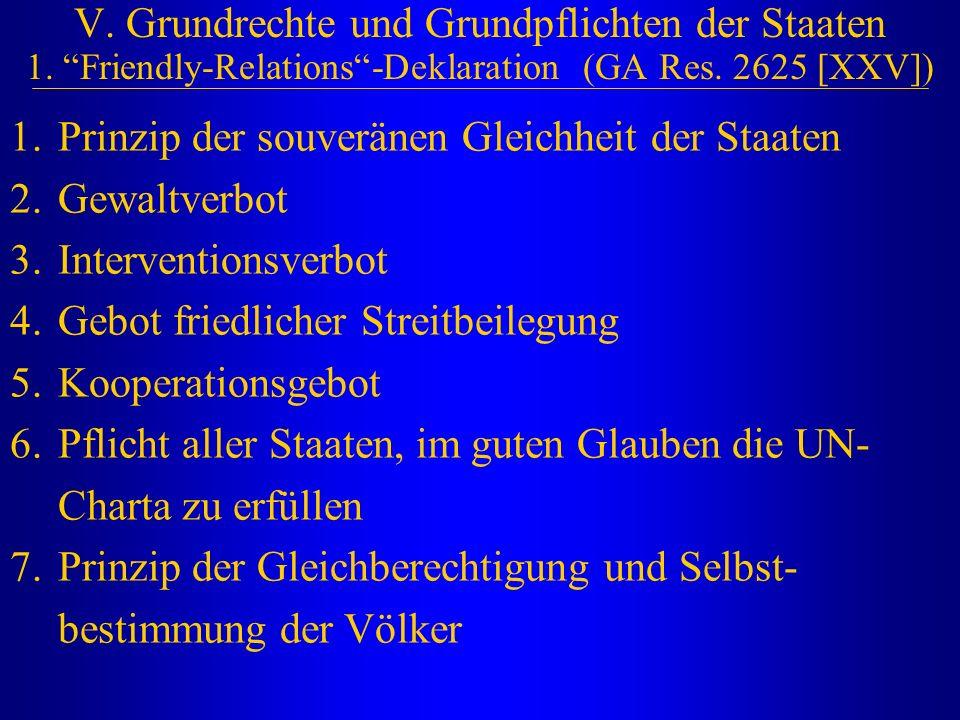 V. Grundrechte und Grundpflichten der Staaten 1