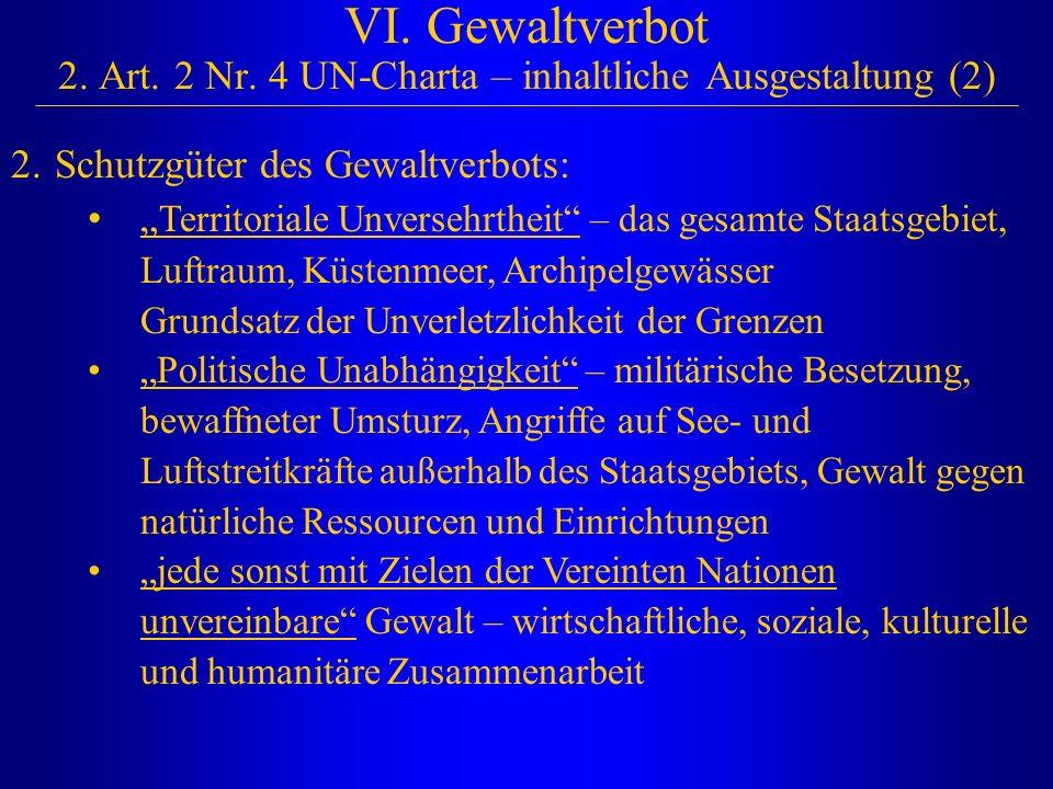 VI. Gewaltverbot 2. Art. 2 Nr. 4 UN-Charta – inhaltliche Ausgestaltung (2)