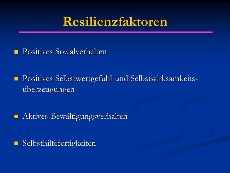Resilienzfaktoren Positives Sozialverhalten