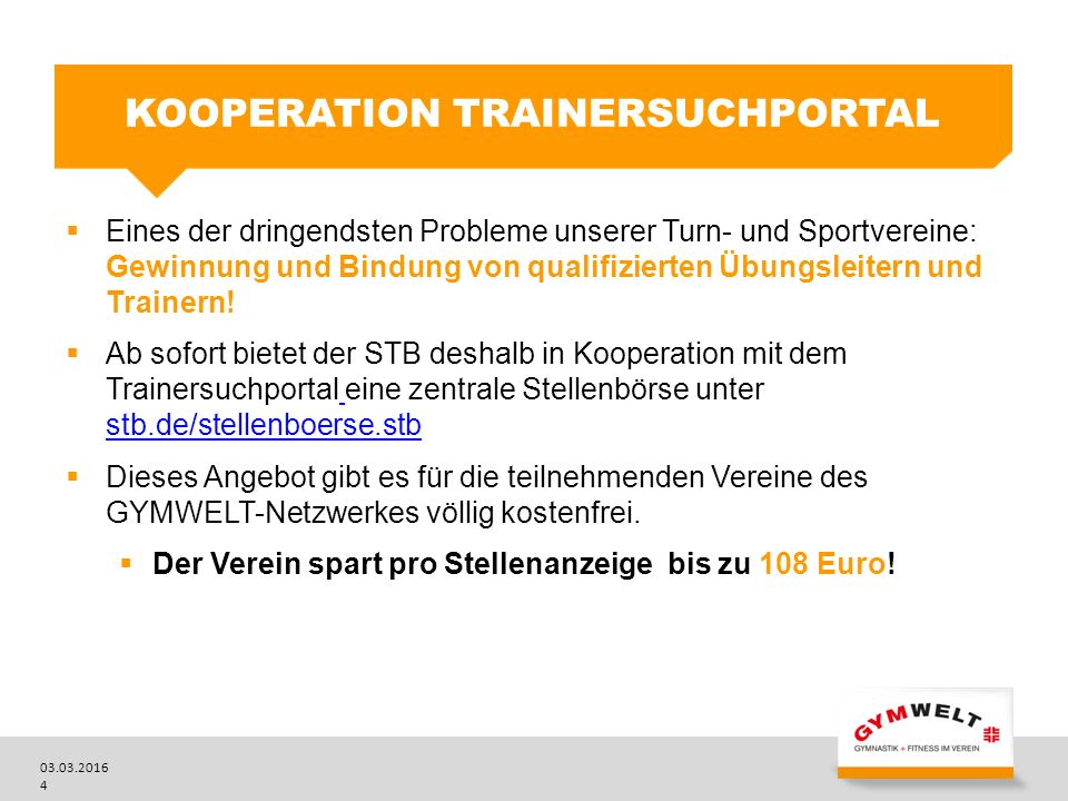 Kooperation Trainersuchportal