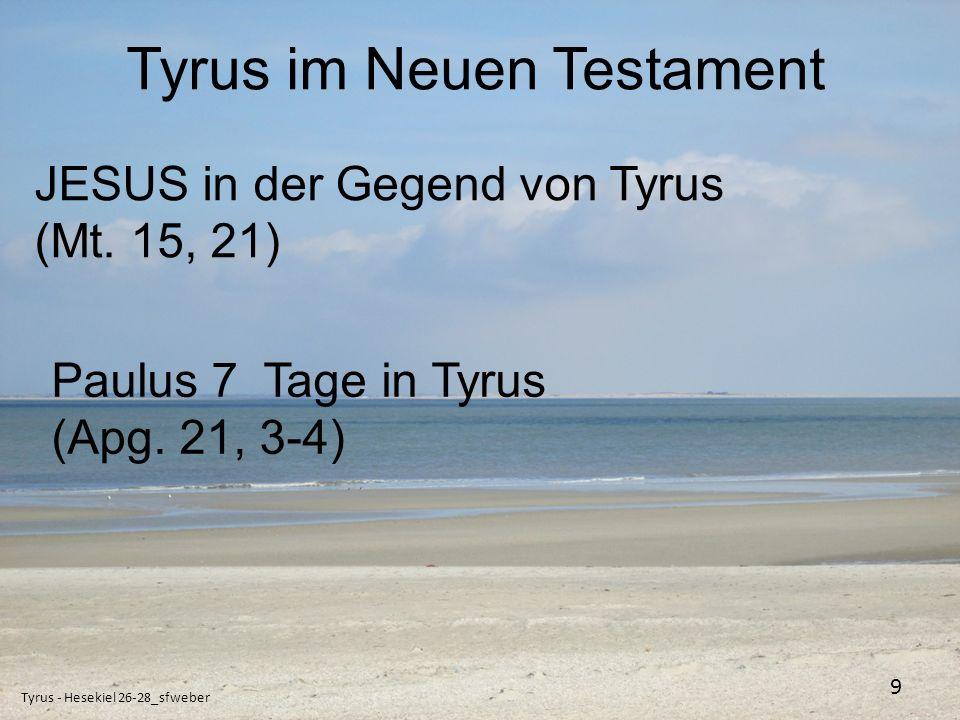 Tyrus im Neuen Testament