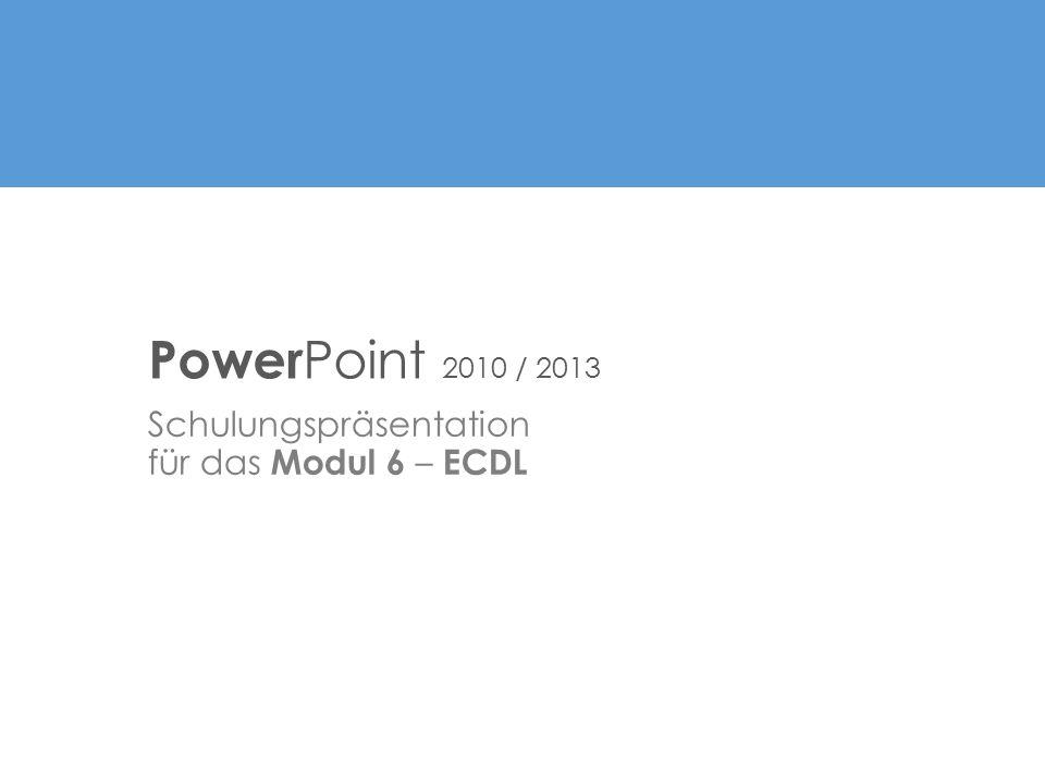 Schulungspräsentation für das Modul 6 – ECDL