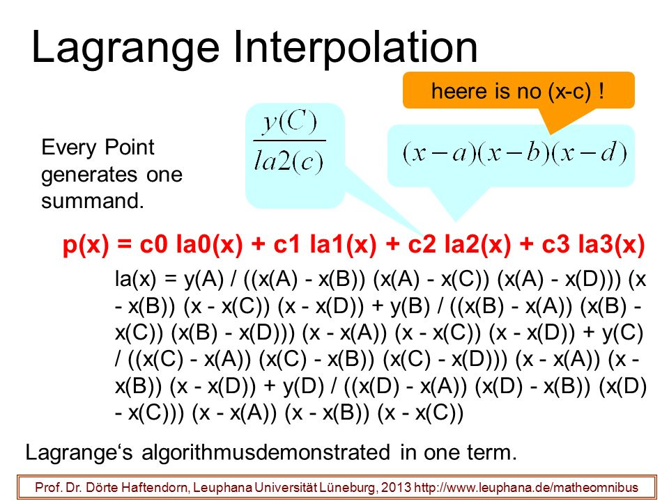Lagrange Interpolation