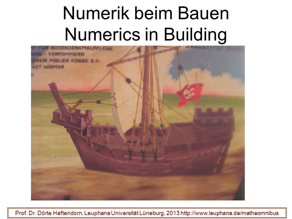 Numerik beim Bauen Numerics in Building