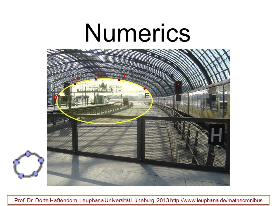 Numerics Prof. Dr.