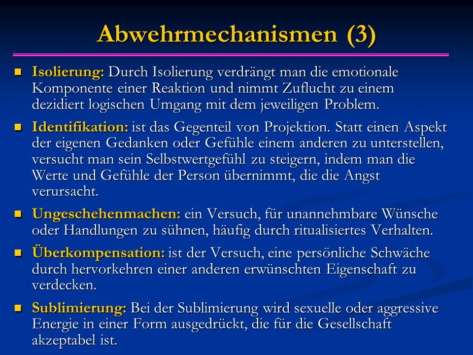 Abwehrmechanismen (3)