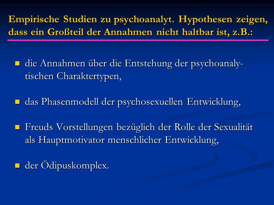 Empirische Studien zu psychoanalyt