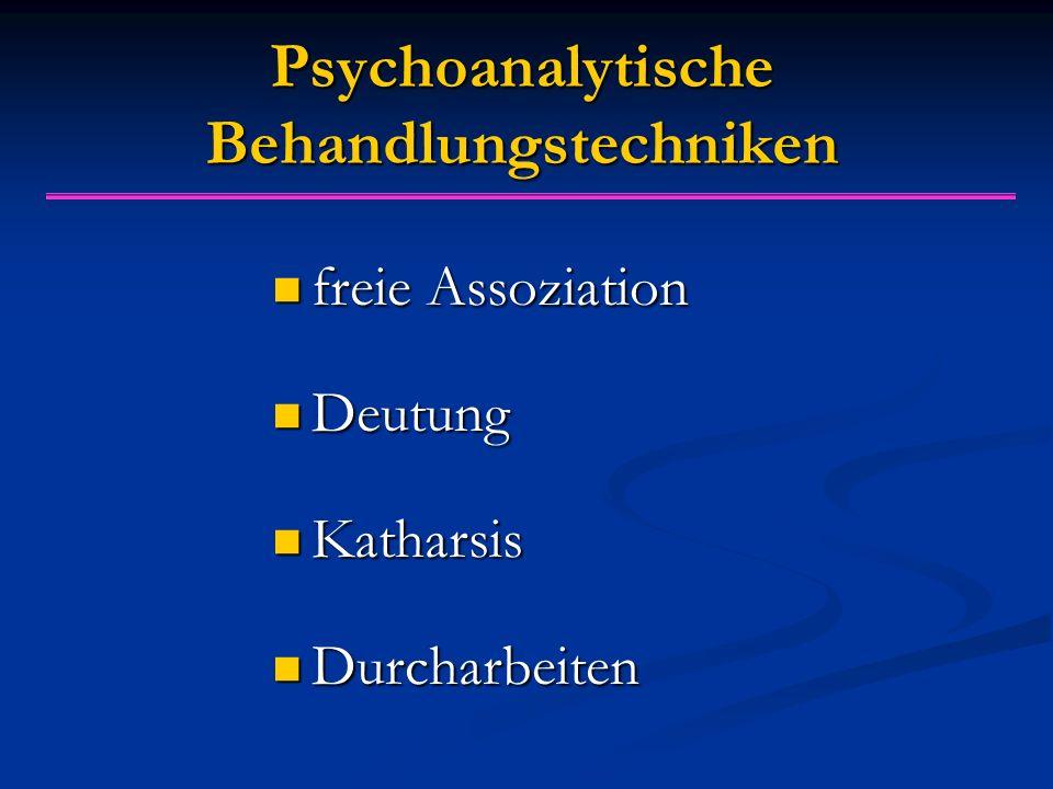 Psychoanalytische Behandlungstechniken