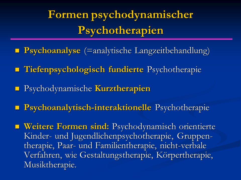 Formen psychodynamischer Psychotherapien
