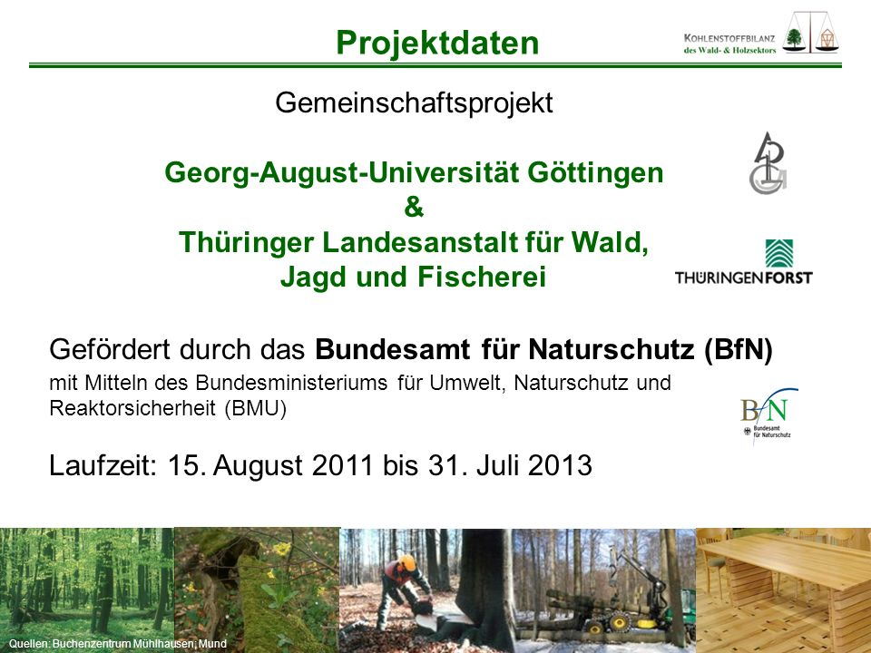 Georg-August-Universität Göttingen Thüringer Landesanstalt für Wald,