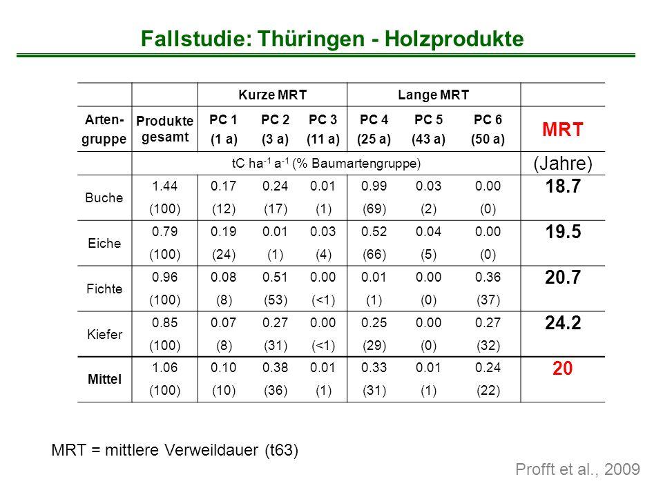 Fallstudie: Thüringen - Holzprodukte