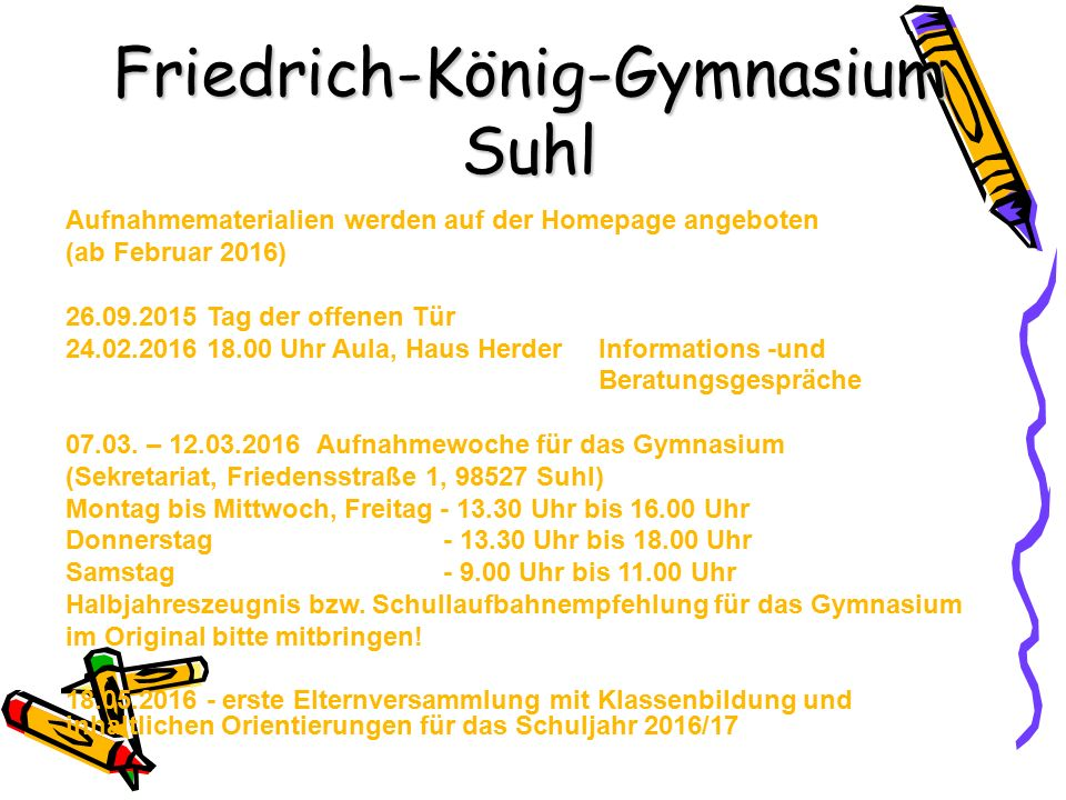 Friedrich-König-Gymnasium Suhl