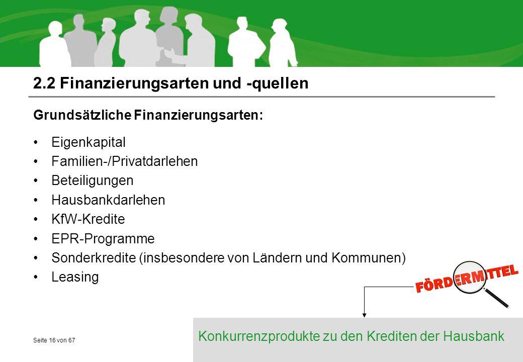 2.2 Finanzierungsarten und -quellen