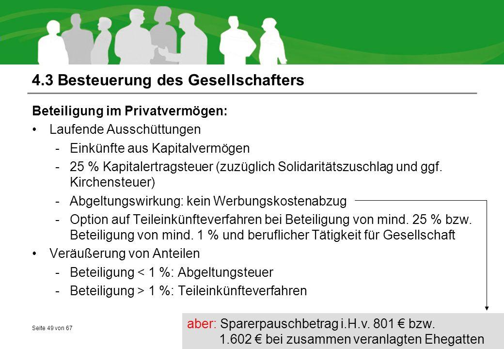 4.3 Besteuerung des Gesellschafters