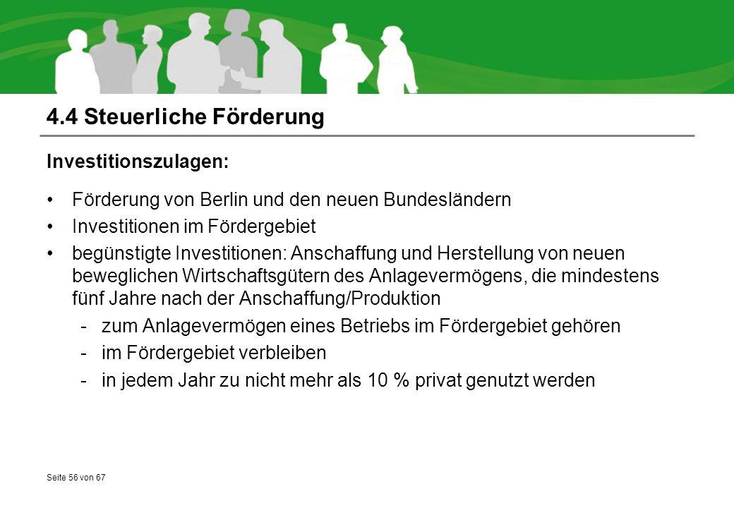 4.4 Steuerliche Förderung