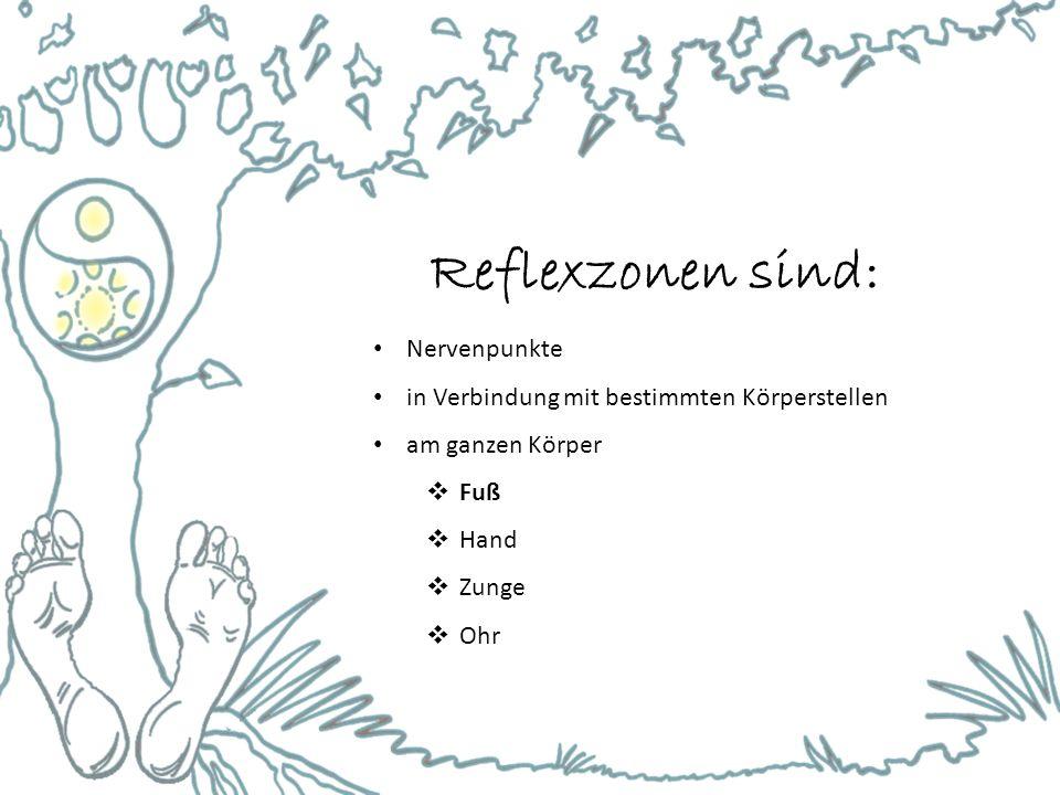Reflexzonen sind: Nervenpunkte