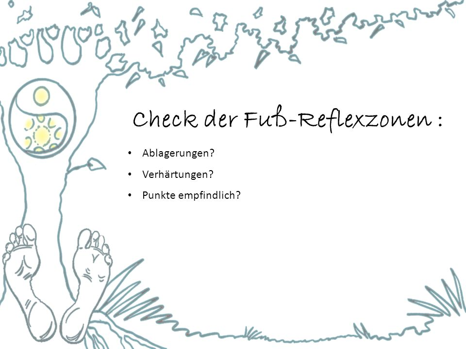 Check der Fuß-Reflexzonen :