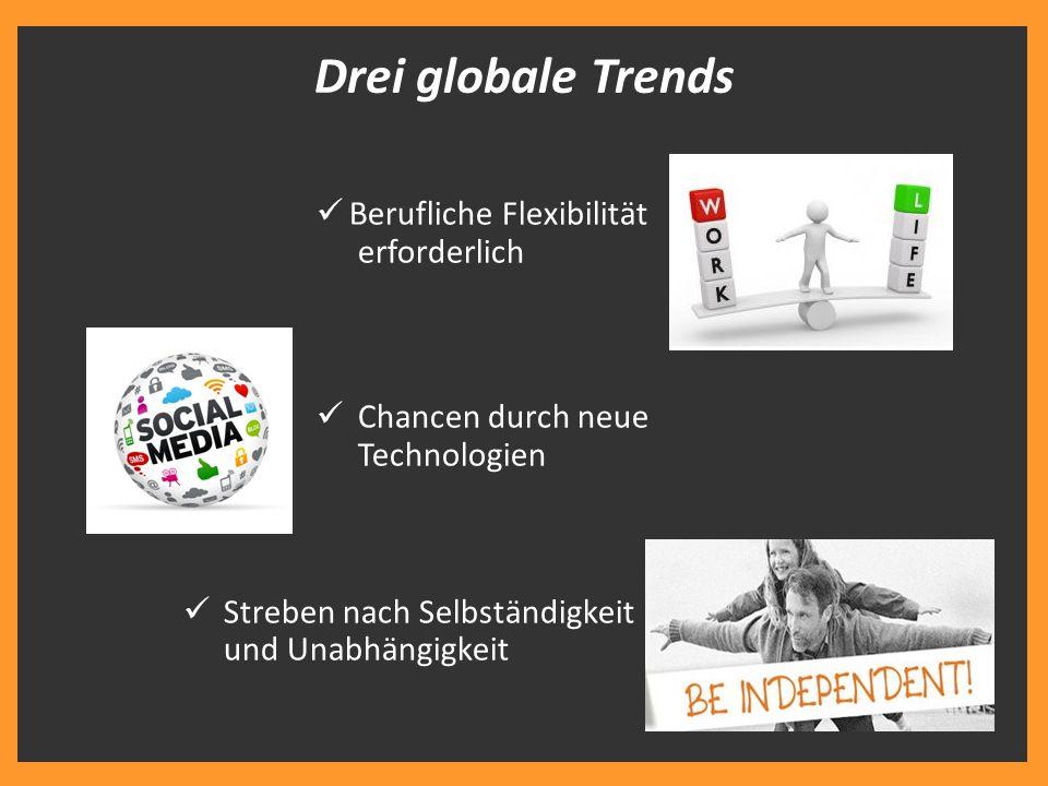 Drei globale Trends Berufliche Flexibilität erforderlich