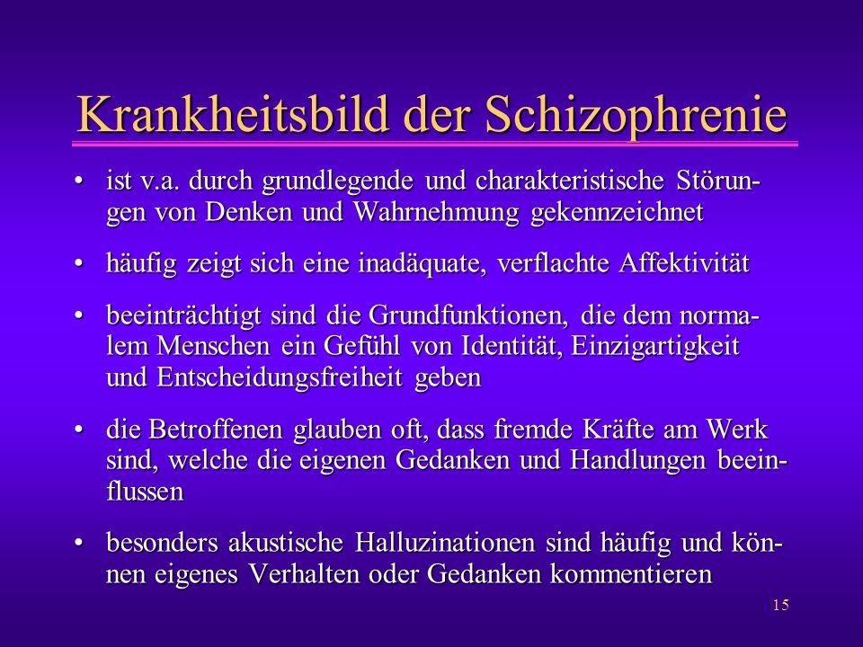 Krankheitsbild der Schizophrenie