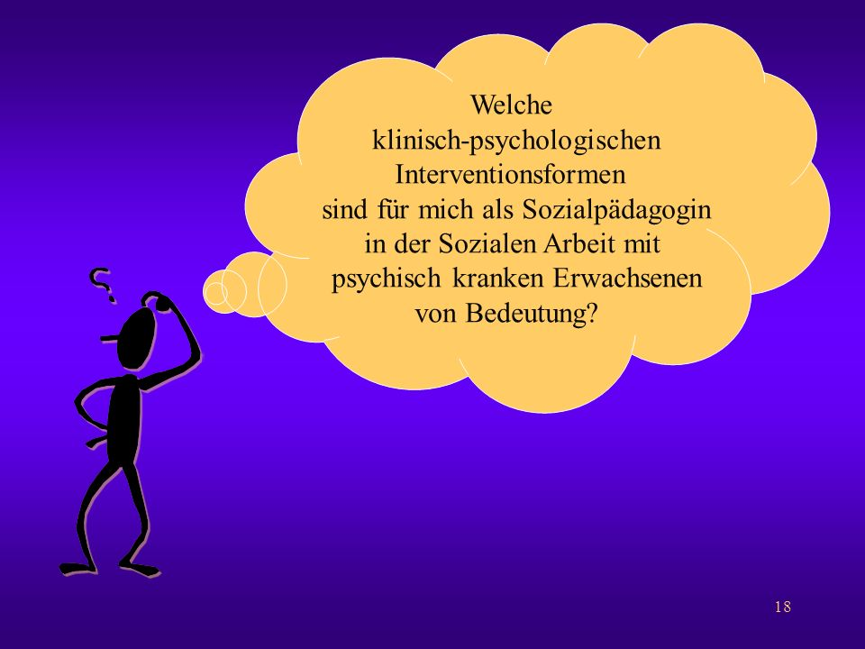 klinisch-psychologischen Interventionsformen