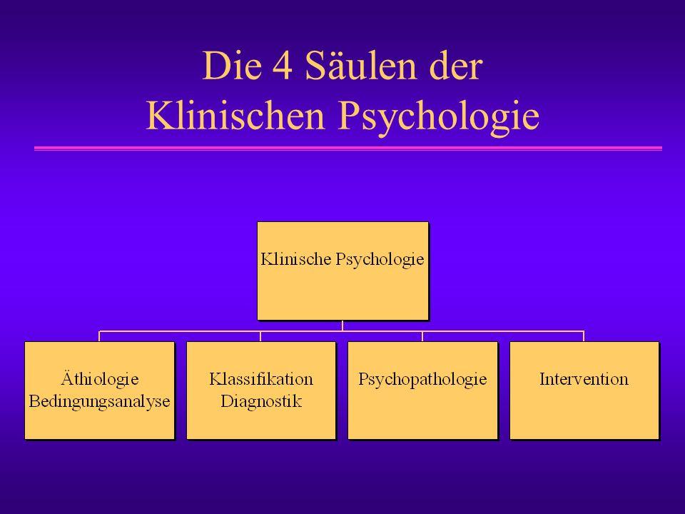 Die 4 Säulen der Klinischen Psychologie