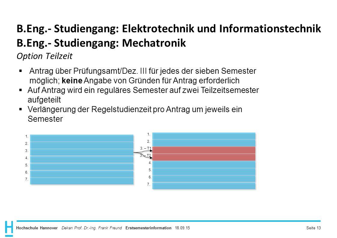 B. Eng. - Studiengang: Elektrotechnik und Informationstechnik B. Eng