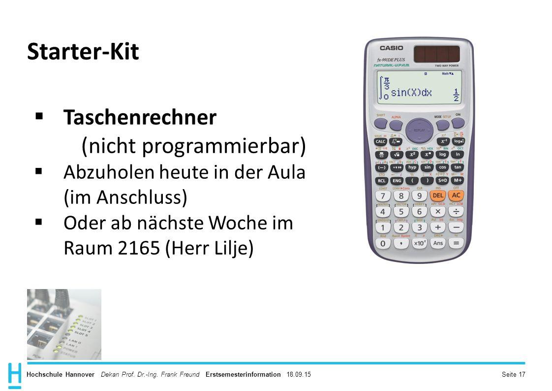 Starter-Kit Taschenrechner (nicht programmierbar)