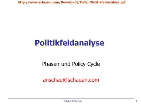Phasen und Policy-Cycle
