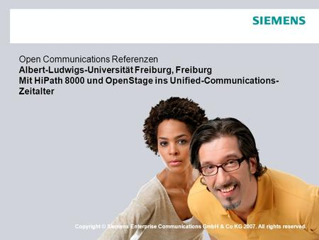 Open Communications Referenzen