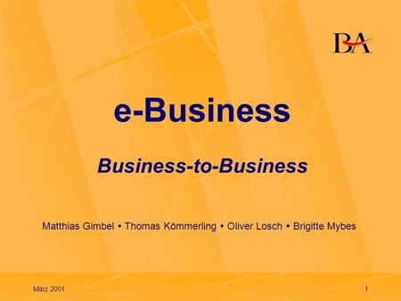 e-Business Business-to-Business