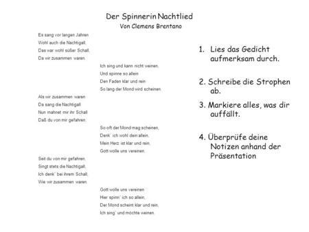 Gedicht 3 strophen 5 verse