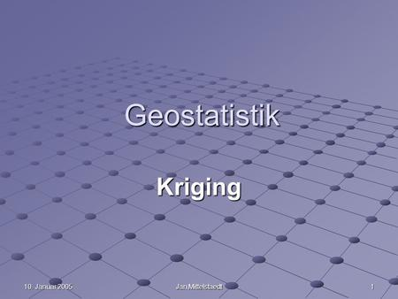 Geoinformation II WS 04/05 Kriging