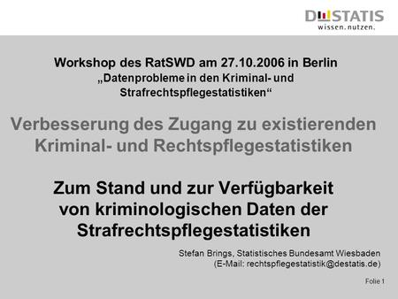 Workshop des RatSWD am in Berlin