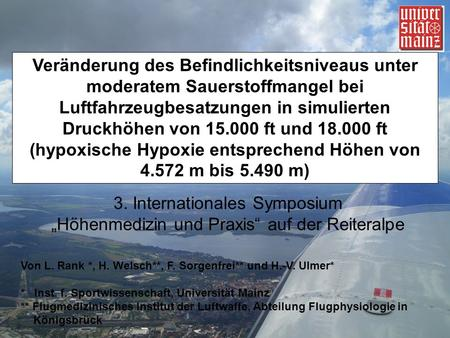 3. Internationales Symposium
