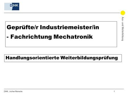 geprfter industriemeisterin fachrichtung mechatronik - Fachgesprach Industriemeister Metall Beispiele