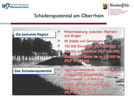 Schadenspotential am Oberrhein