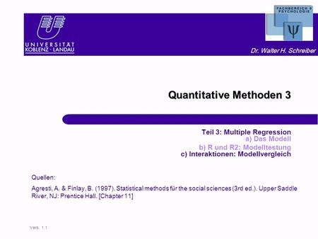 Quantitative Methoden 3