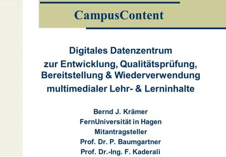 CampusContent Digitales Datenzentrum