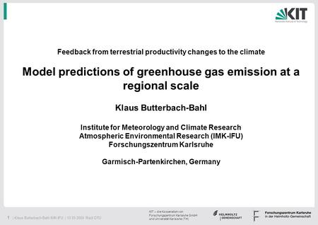 Model predictions of greenhouse gas emission at a regional scale