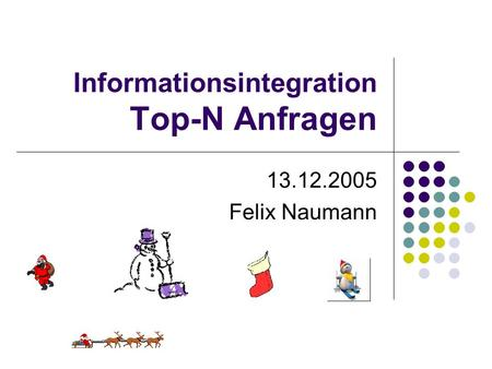 Informationsintegration Top-N Anfragen