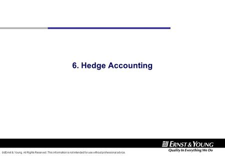 6. Hedge Accounting.