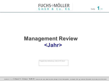 Management Review <Jahr>