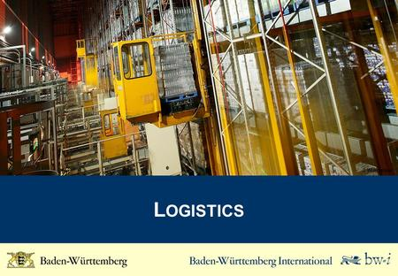 L OGISTICS © Wincanton. Key Figures for the Logistics Industry Turnover Employees Turnover per employee (K EUR) Companies* WZ-Code 2008: 49.2, 49.4, 49.5,