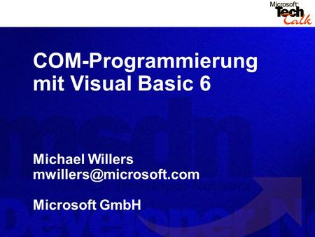 COM-Programmierung mit Visual Basic 6