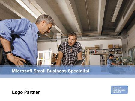 Microsoft Small Business Specialist Logo Partner.