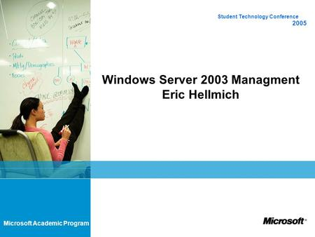 Windows Server 2003 Managment Eric Hellmich