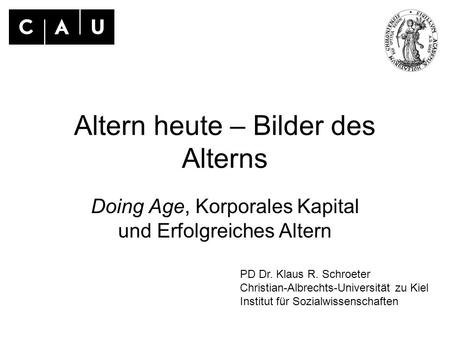 Altern heute – Bilder des Alterns