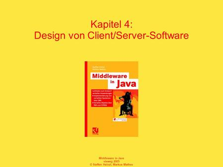 Kapitel 4: Design von Client/Server-Software