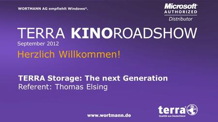 TERRA Storage: The next Generation Referent: Thomas Elsing.